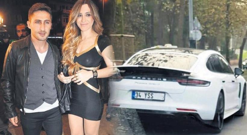 Sabri Sarıoğlu, eşi Yağmur Sarıoğlu'na 2,5 milyon liralık Porsche Panamera hediye etti