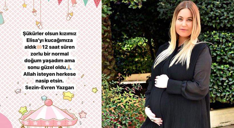 Sezin Yazgan kızı Elisa'yı kucağına aldı, Mehmet Ali Erbil dede oldu