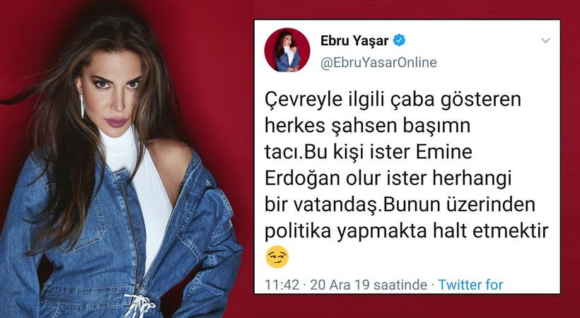 Ebru Yaşar: Çevre üzerinden politika yapmak halt etmektir