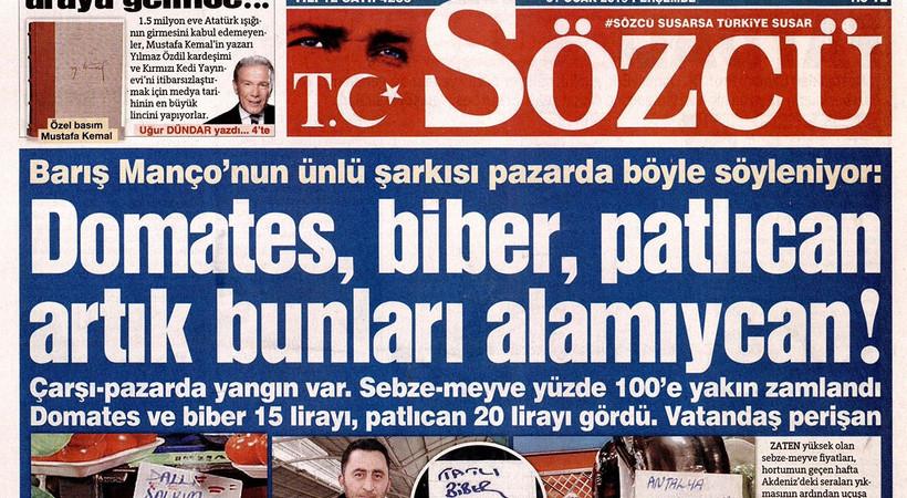Sözcü Gazetesi yazar ve yöneticilerine hapis cezası
