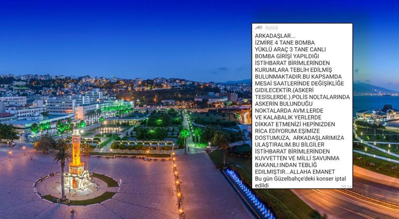 İzmir'i karıştıran canlı bomba ve bombalı araç iddiasında flaş gelişme