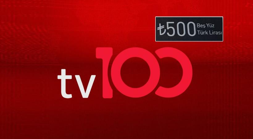 TV 100'den çalışanlara 500 liralık hediye çeki