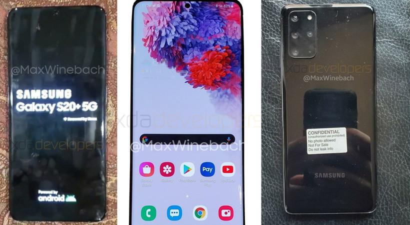 Samsung Galaxy S20+ 5G'nin görüntüsü sızdı
