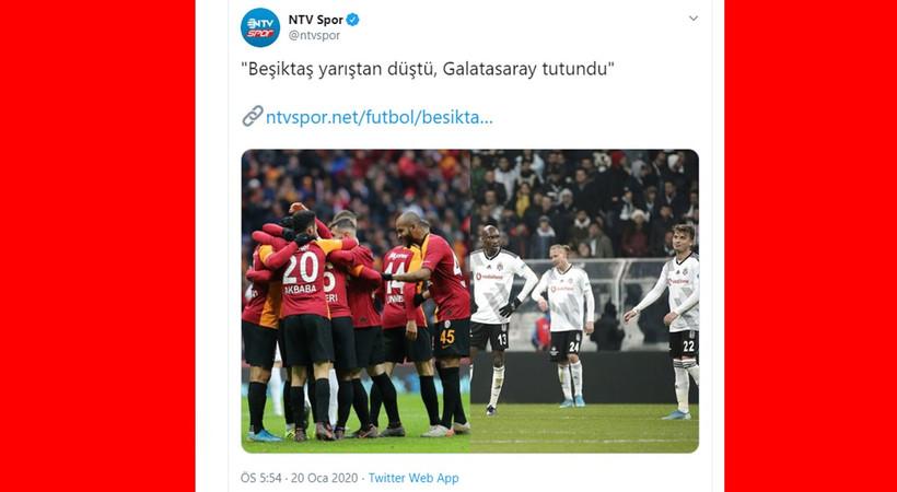 NTV Spor'un başlığı tepki çekti