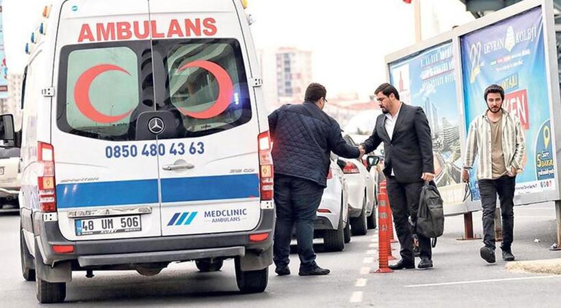 İstanbul'da ambulanslar hasta değil, yolcu taşıyor