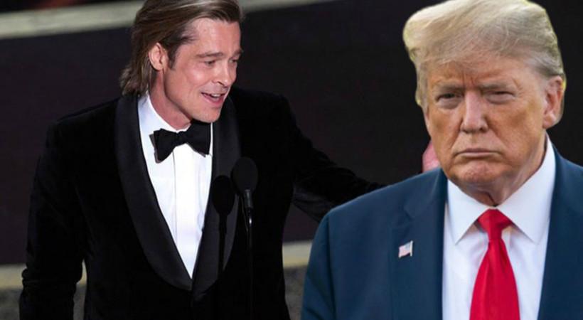 Oscar töreninde Brad Pitt'den Trump'a gönderme