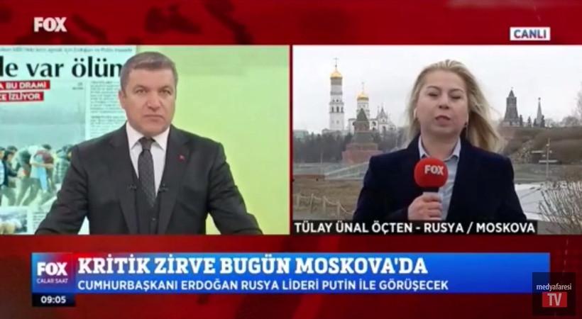 Rus polisinden FOX'un canlı yayınına müdahale!