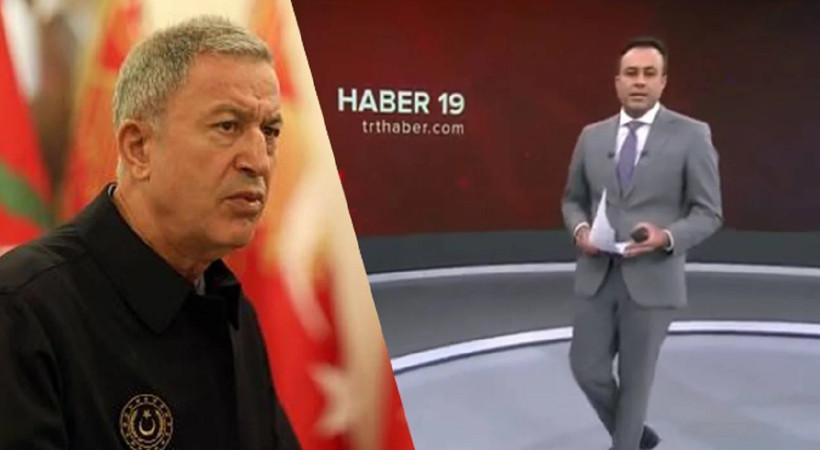 TRT spikerinden Hulusi Akar gafı