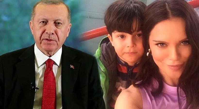 Cumhurbaşkanı Erdoğan'dan Ebru Şallı'ya destek