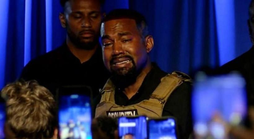 Başkanlığa oynayan Kanye West ilk mitinginde gözyaşlarına boğuldu: Neredeyse kızımı öldürüyordum