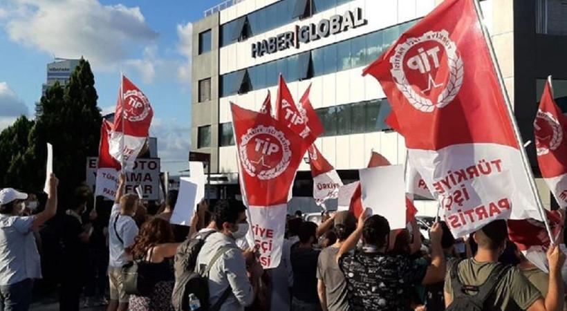 Haber Global önünde protesto