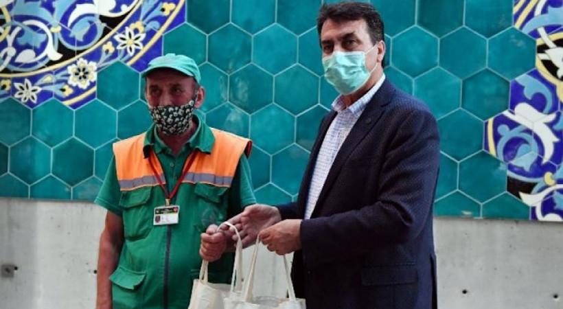 Bursa'daki temizlik işçisinin borcu kapatıldı
