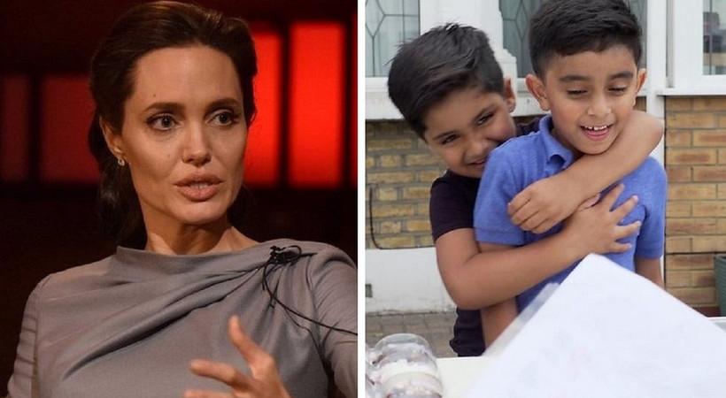 Angelina Jolie'den limonata satan çocuklara bağış