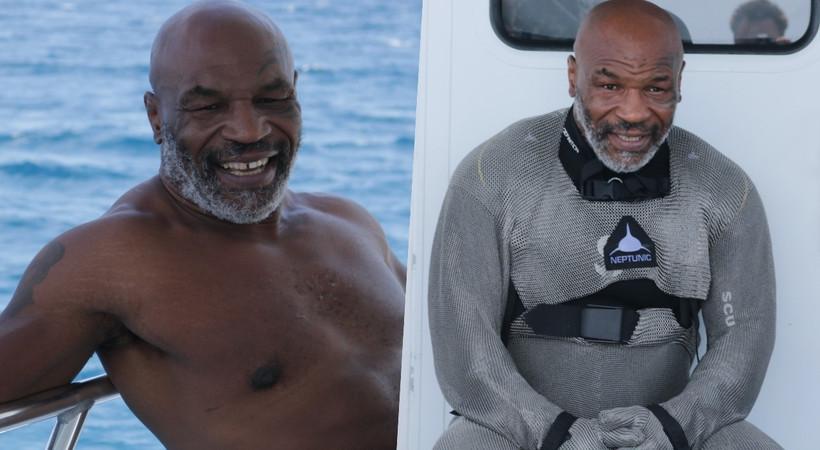 Efsane boksör Mike Tyson'un rakibi köpekbalığı!
