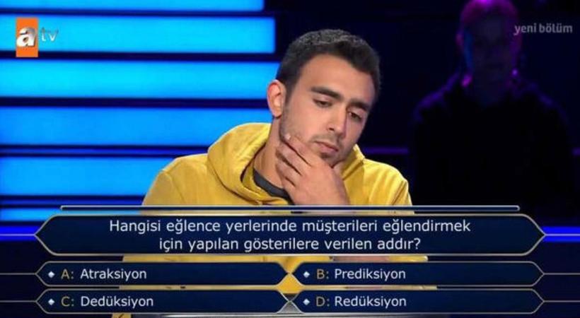 'Kim Milyoner Olmak İster?'in son bölümüne damga vuran soru!