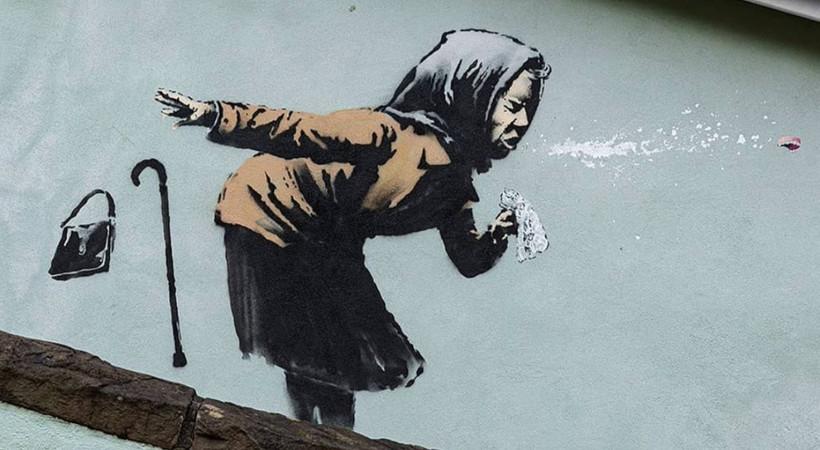 Banksy yeni eserini paylaştı