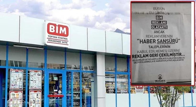 Milli Gazete, BİM'in 'sansür' talebini ifşa etti!