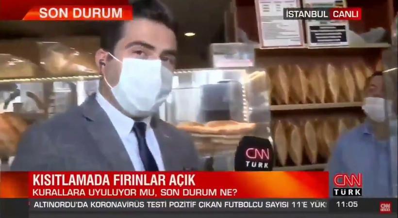 CNN Türk muhabirinden 'fırıncı' açıklaması: Röportajı fırıncının söyledikleri nedeniyle kesmedim