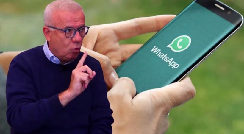Ertuğrul Özkök'ten WhatsApp tepkisi: 'Çıplak fotoğrafları başkalarına mı vereceksin?'