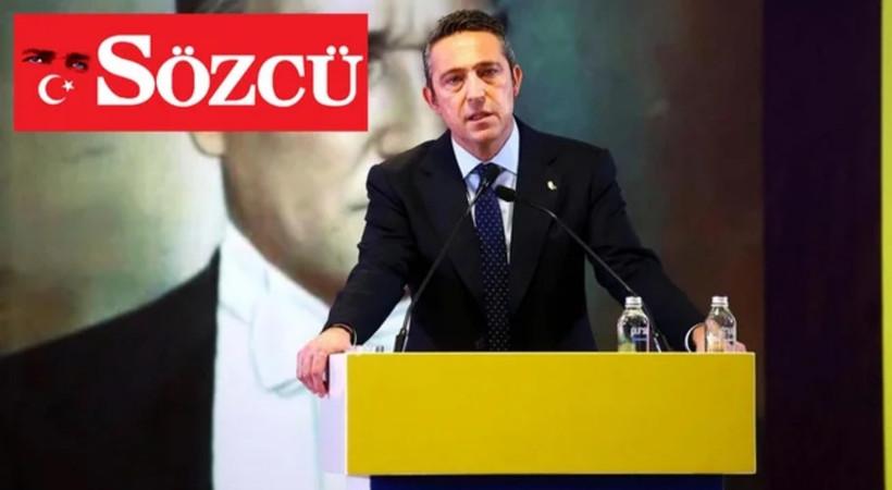 Ali Koç açıkladı... Fenerbahçe'den flaş Sözcü gazetesi kararı!