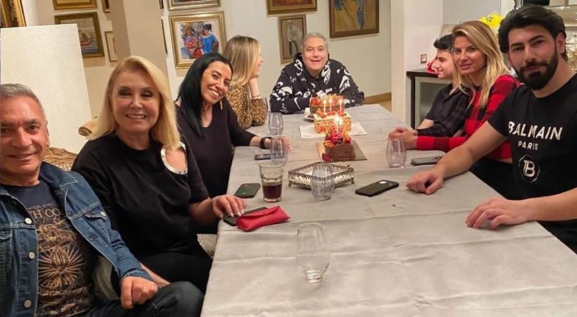 Mehmet Ali Erbil yeni yaşına, eski eşleriyle girdi