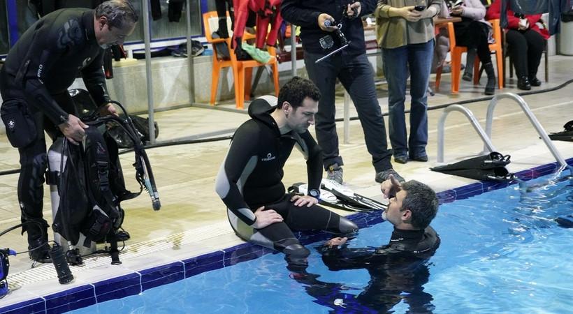 Murat Yıldırım yeni rolü için dalış eğitimi aldı