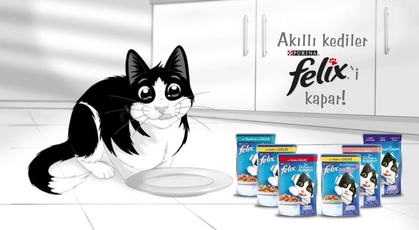 Felix'ten kediler için 'Karşı Konulmaz Lezzet' reklam filmi