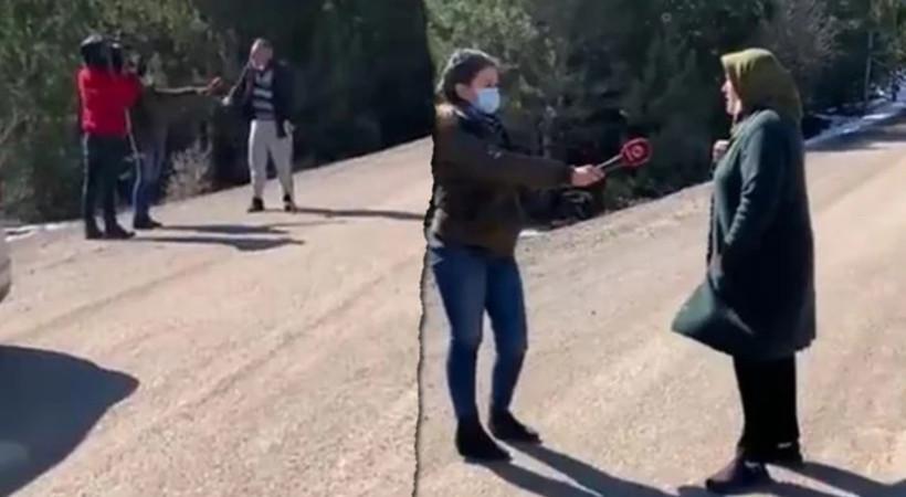 Beyaz TV'nin kurmaca 'Mansur Yavaş' röportajını köylüler bozdu