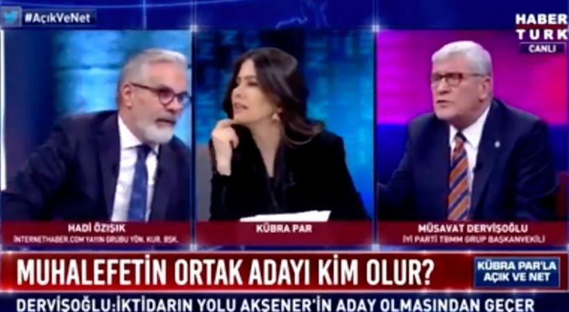 Habertürk canlı yayında 'yandaş medya' kavgası! 'İktidar yanlısı gazeteci' sözü tartışma çıkardı