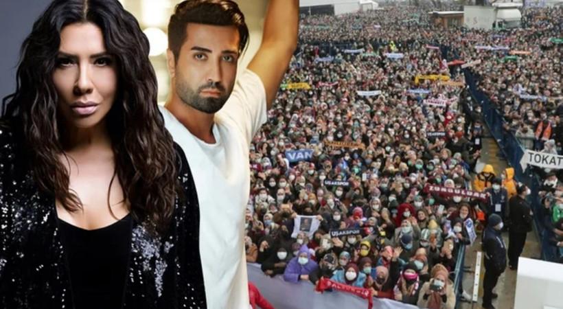 Ünlü şarkıcılardan AKP kongresine sert tepki! 'Asla bu kadar iç içe olmayacağız'