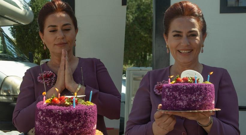 Nazan Kesal'a Bir Zamanlar Çukurova setinde sürpriz doğum günü!