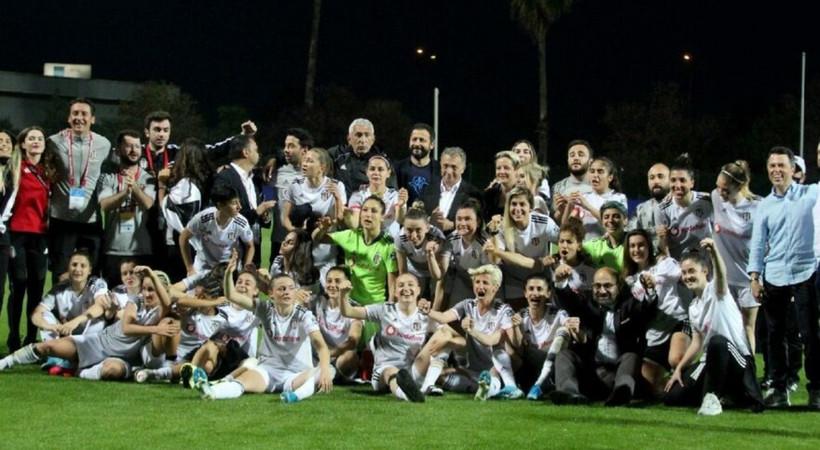 Kadın Futbol Ligi'nde şampiyon Beşiktaş!