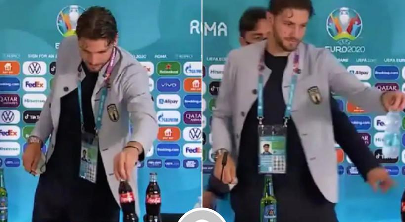 Euro 2020'de futbolcuların Coca Cola'ya tepksi sürüyor