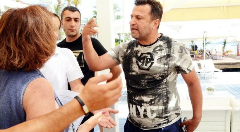 Sahil işgal kavgasında ünlü teknik direktör Bülent Uygun çevrecilerin üzerine yürüdü!