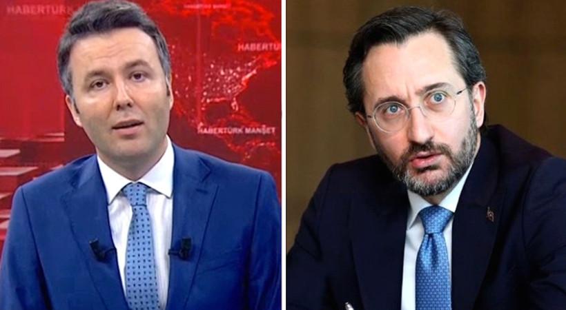 Fahrettin Altun, Habertürk'ü kınadı; Habertürk sunucusu Mehmet Akif Ersoy da Fahrettin Altun'un paylaşımını kınadı...