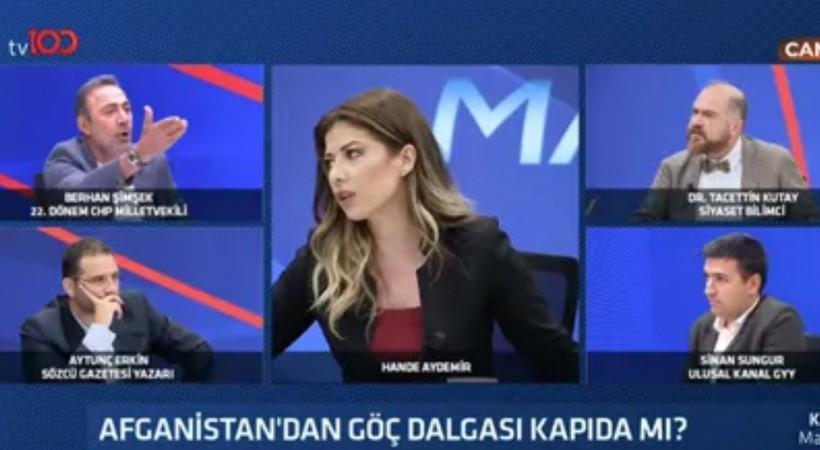 tv100 canlı yayınında tansiyon yükseldi! Berhan Şimşek ile Tacettin Kutay birbirine girdi!