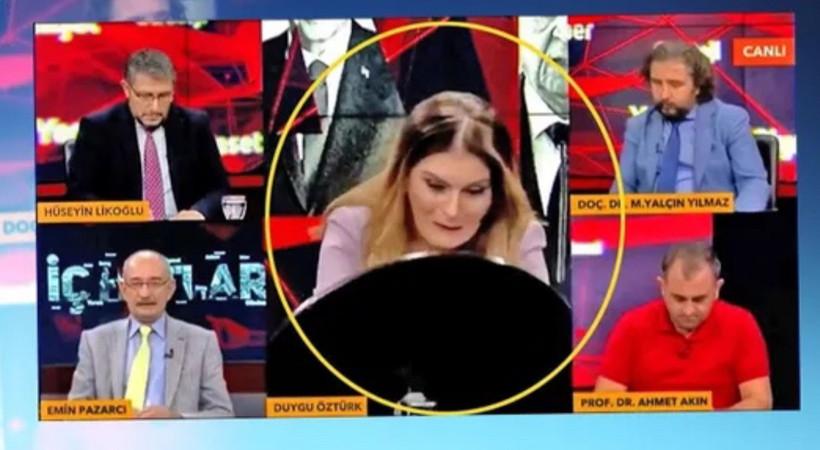 tvnet spikeri Duygu Öztürk'ün ilk yayınında korkutan kaza! Neye uğradığını şaşırdı