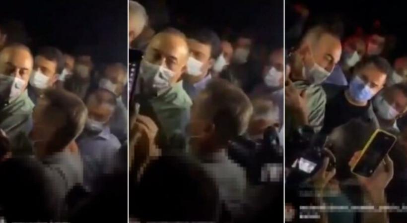 Yangın bölgesini gezen Bakan Çavuşoğlu'na vatandaştan tepki!