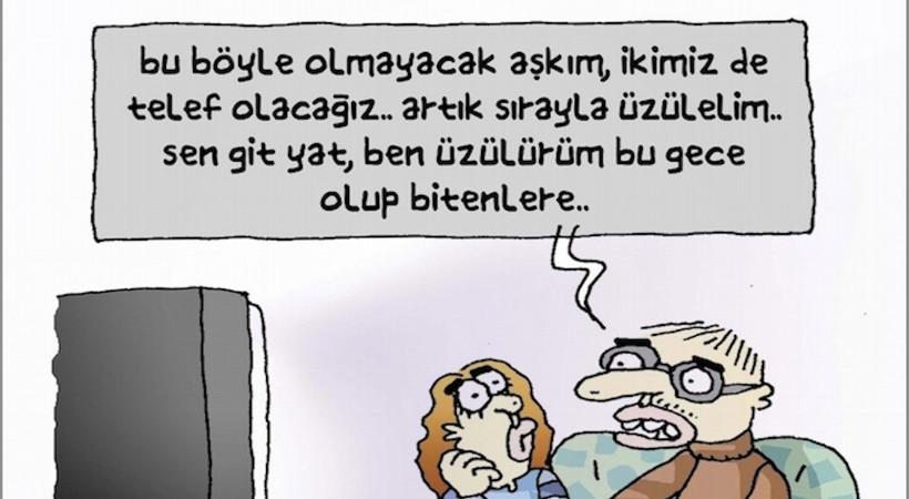 Ünlü karikatürist Metin Üstündağ, günü tek karede özetleyen en güzel şekilde çizdi...