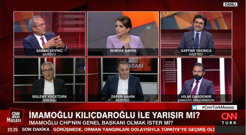 Türkiye cayır cayır yanarken CNN Türk ekranlarında İmamoğlu'nun CHP Genel Başkanlığı'na aday olup olmayacağı tartışıldı...