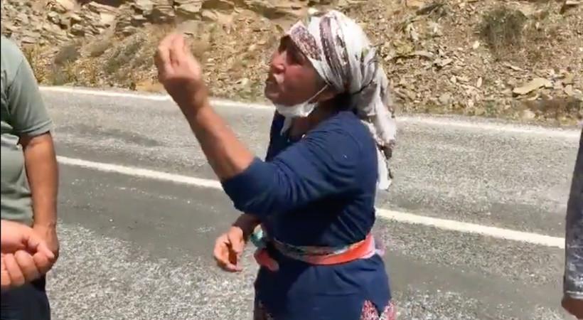 Yangın yerinde köylüden, Erdoğan'a isyan: Bize su vereceğine çay atıyor! Nasıl başkan bu...