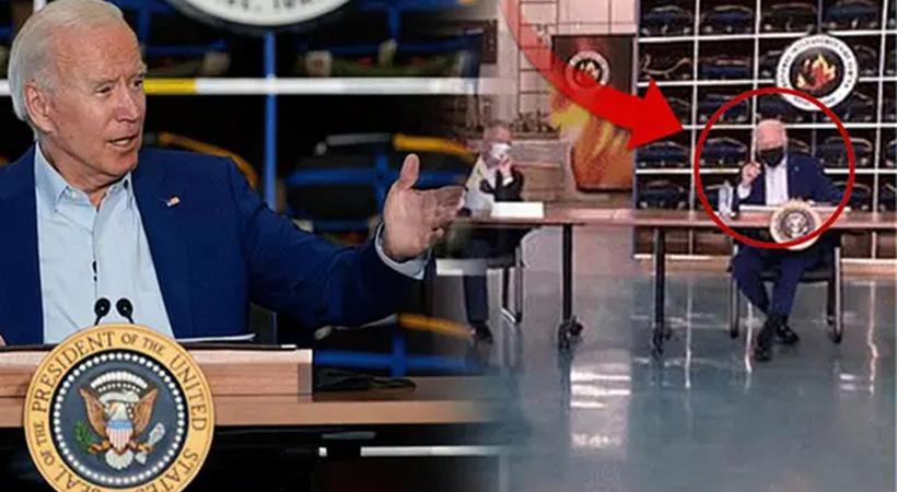 ABD Başkanı Biden'a büyük şok! Beyaz Saray yetkilileri Biden konuşurken canlı yayını kestiler