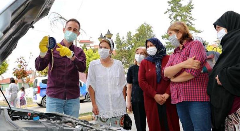 Mesleğin cinsiyeti yok: Eskişehir'de, kadınlar 4 haftalık eğitimle araç bakım ustası oldu