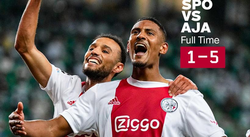 Sporting 1-5 Ajax  MAÇ ÖZETİ