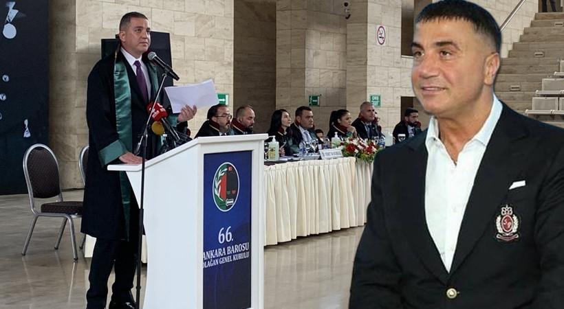 Ankara Barosu seçimlerinde Sedat Peker detayı! Ankara Barosu Başkanı yeniden Erinç Sağkan oldu