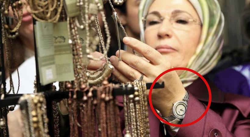 Ermine Erdoğan'ın 'Chopard Happy Diamonds' marka kol saati gündem oldu! Ermine Erdoğan'ın saati kaç euro?