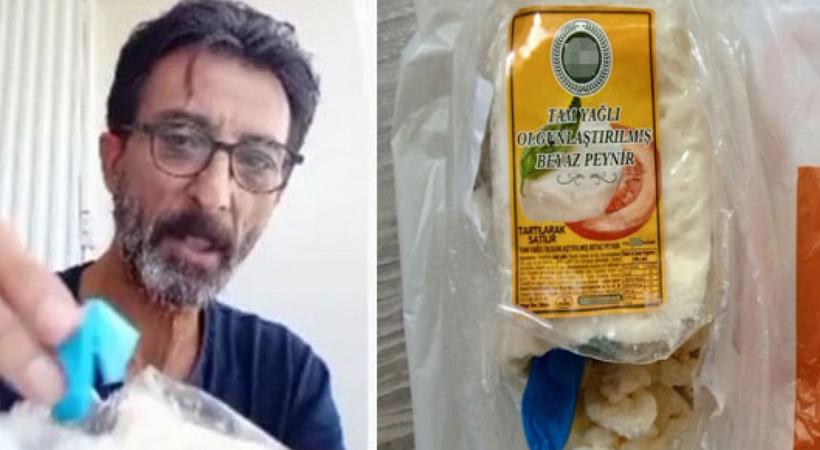 Migros'tan alınan peynirden çıkan şoke etti! Mide bulandırdı