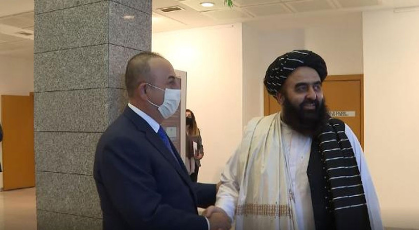 Taliban heyeti, Mevlüt Çavuşoğlu ile Ankara'da görüştü! Çavuşoğlu: Afganistan'daki son durum hakkında bilgiler aldık. Türkiye olarak düşüncelerimizi paylaştık