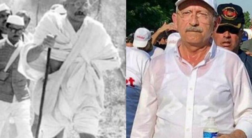 'Gandi'nin yürüyüşü ile Kemal Bey'in yürüyüşü arasındaki farklar'