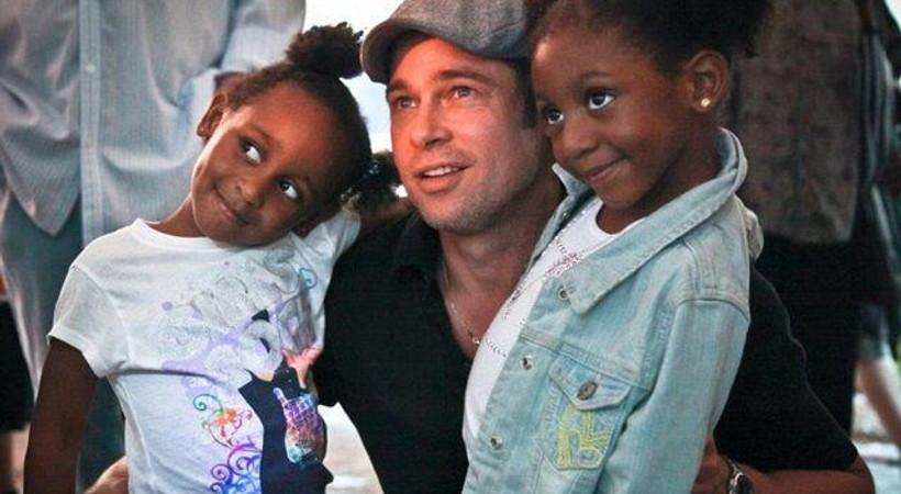 Brad Pitt'ten o ailelere büyük destek